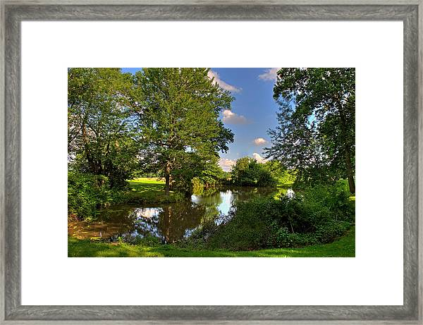 Framed Print featuring the photograph American Farm Pond by William Jobes