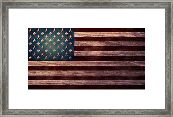 American Flag I Framed Print