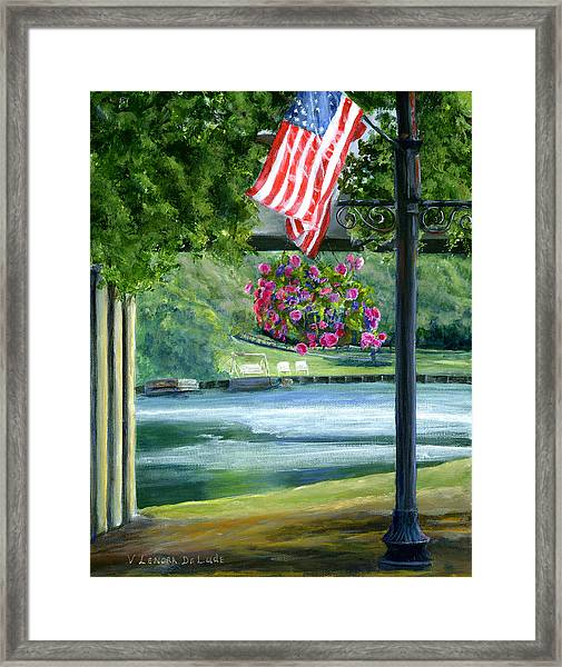 American Flag In Natchitoches Louisiana Framed Print