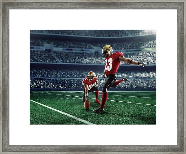 American Football Kick Off Framed Print by Dmytro Aksonov
