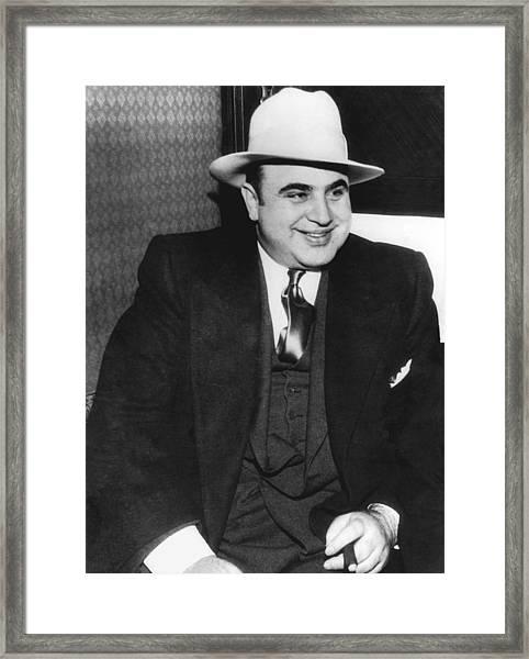American Gangster Al Capone Framed Print
