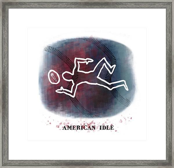 American Idle Framed Print