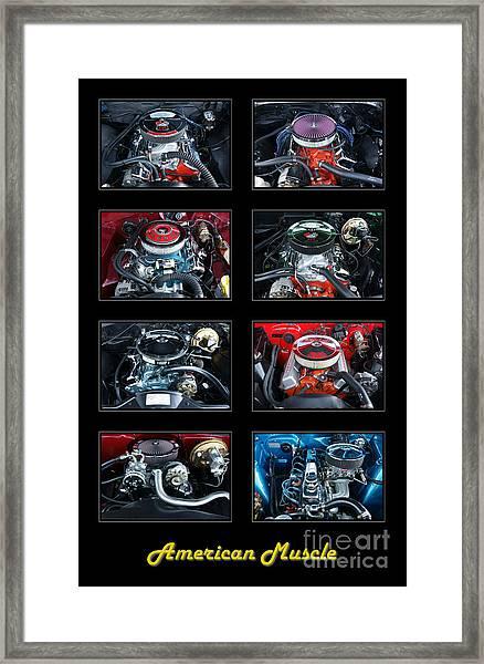 American Muscle Framed Print