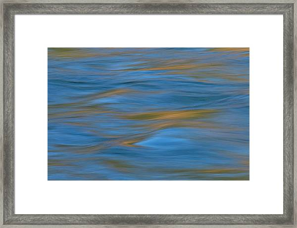 American River Abstract Framed Print