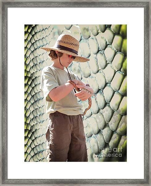 American Snake Charmer Framed Print