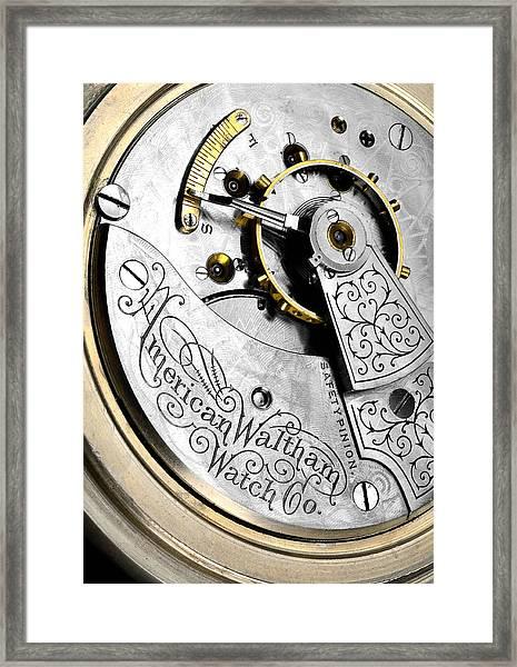 Antique Pocket Watch Framed Print