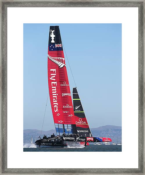 America's Cup Emirates Team New Zealand Framed Print by Steven Lapkin