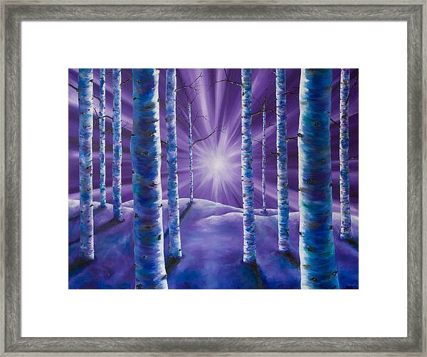 Amethyst Winter Framed Print