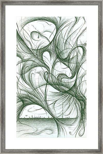 Amidst The Chaos Framed Print by Michael Morgan