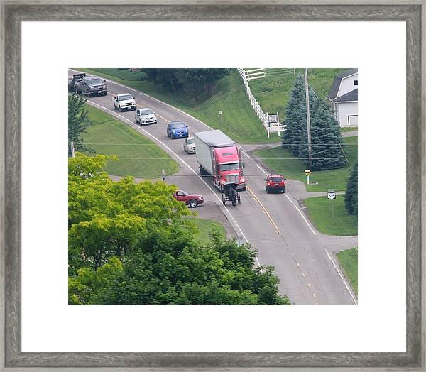 Amish Traffic Jam Framed Print