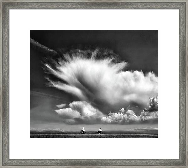 Amongst The Clouds ... Framed Print