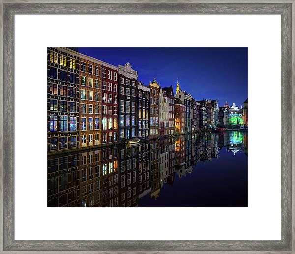 Amsterdam At Night 2017 Framed Print