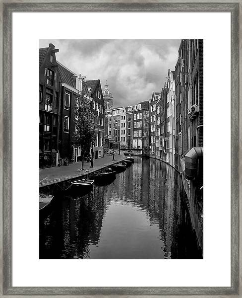 Amsterdam Canal Framed Print