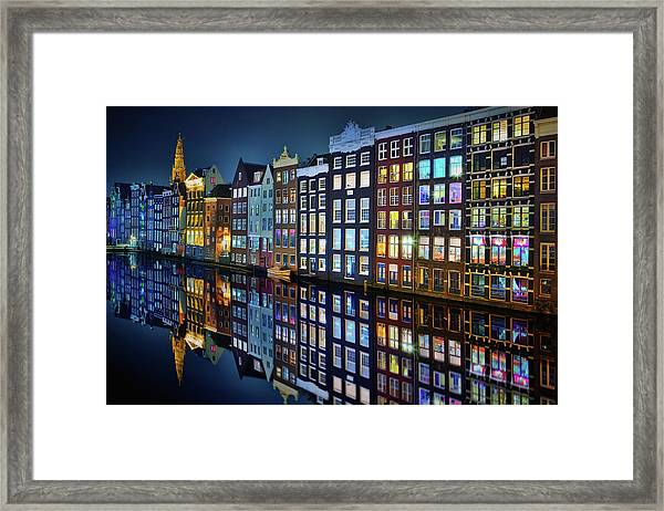 Amsterdam Mirror. Framed Print