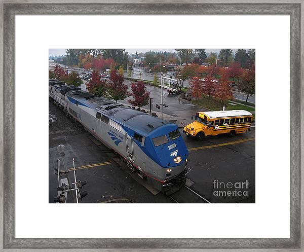 Amtrak 122 In Salem Framed Print