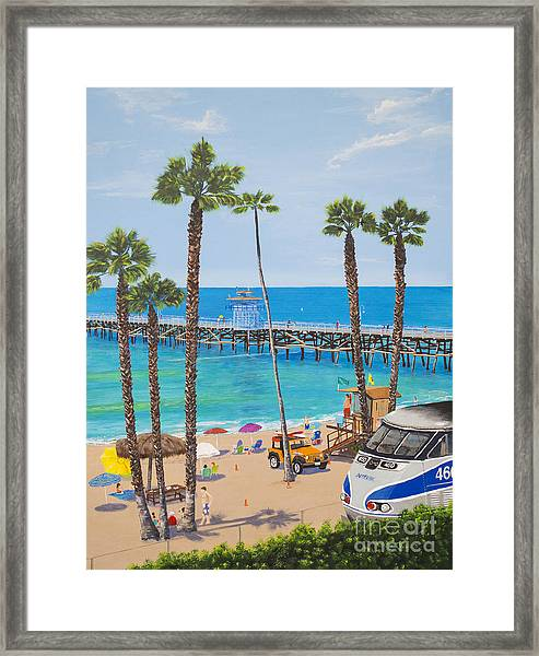 Perfect Beach Day Framed Print