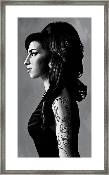 Amy Winehouse Artwork  2 Framed Print by Sheraz A