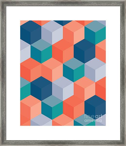 An Abstract Geometric Vector Background Framed Print