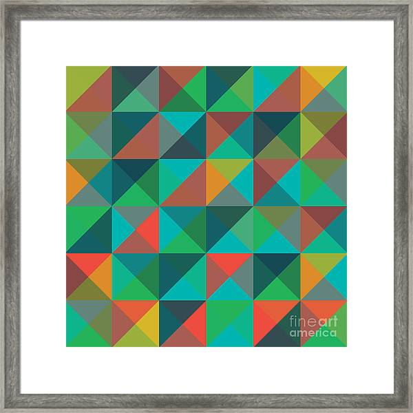An Abstract Geometric Vector Pattern Framed Print