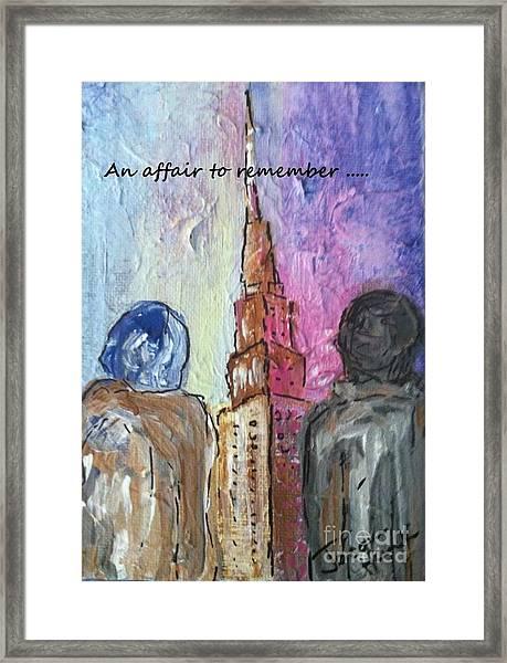 An Affair To Remember Framed Print