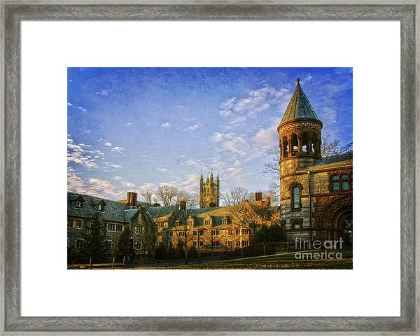 An Afternoon At Princeton Framed Print