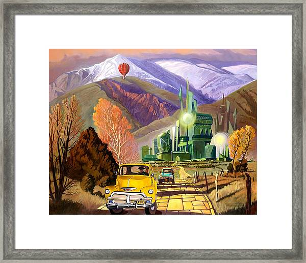 Trucks In Oz Framed Print