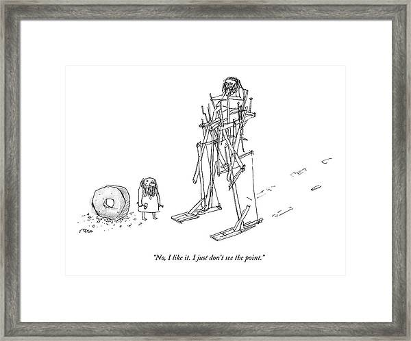 An Ancient Man In A Strange Walking Contraption Framed Print by Edward Steed