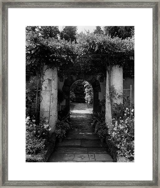 An Archway In The Garden Of Mrs. Carl Tucker Framed Print