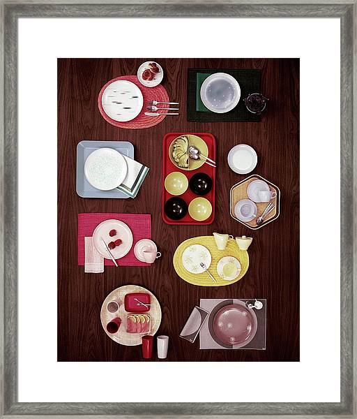 An Assortment Of Dinnerware Framed Print
