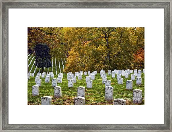 An Autumn Day In Arlington Framed Print