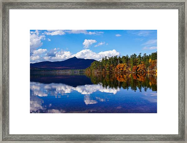 An Autumn Evening On Lake Chocorua Framed Print
