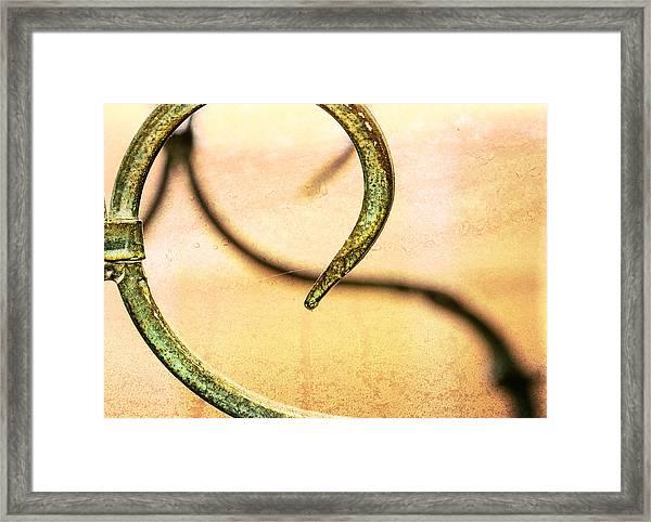 An Echoed Spiral Framed Print