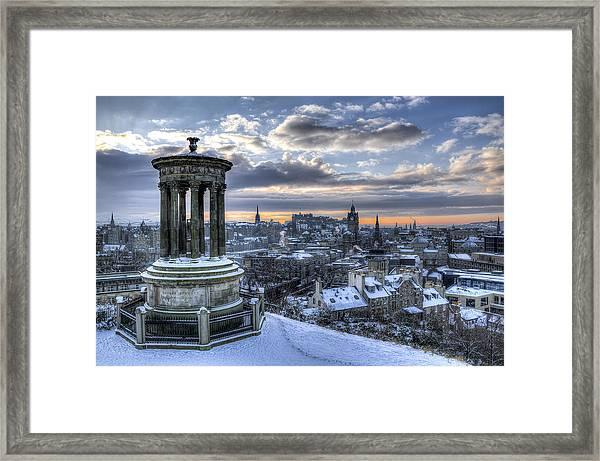 An Edinburgh Winter Framed Print