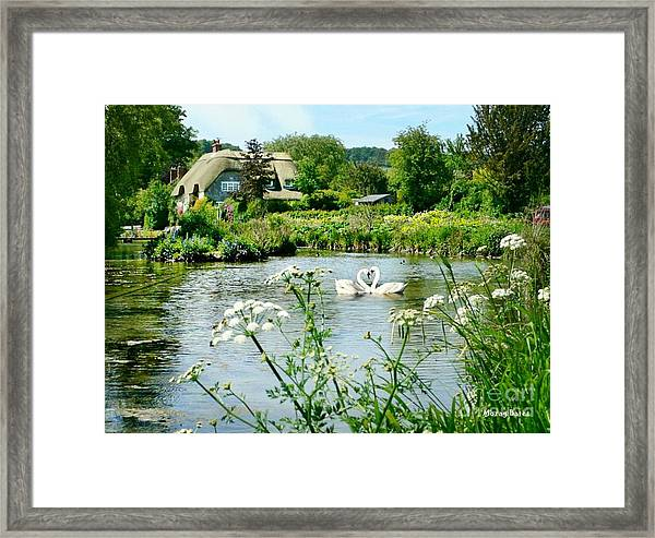 An English Cottage Framed Print