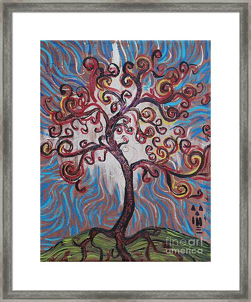 An Enlightened Tree Framed Print