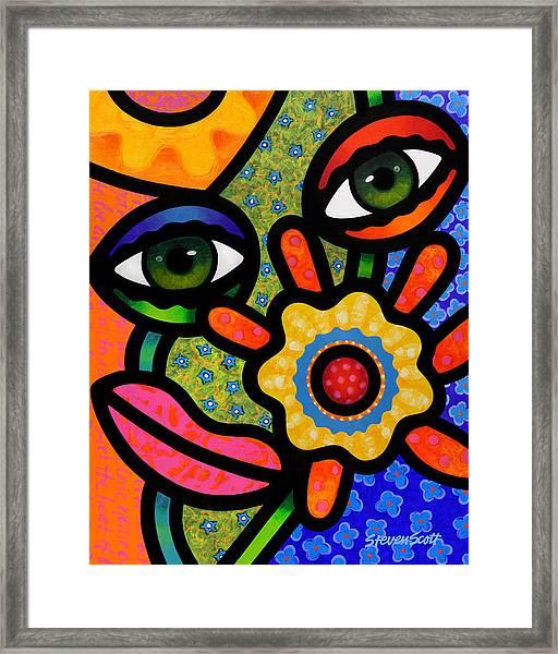An Eye On Spring Framed Print