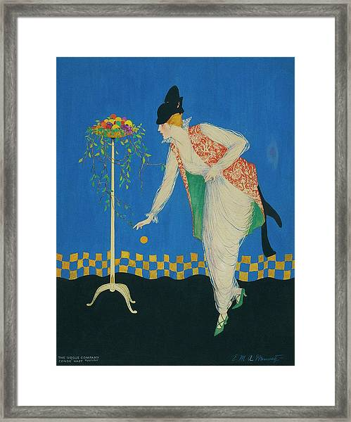 An Illustration For Vogue Magazine Framed Print by E.M.A. Steinmetz