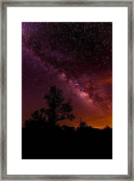 An Image Worth 520 Miles - Milky Way At Enchanted Rock Texas Hill Country Framed Print