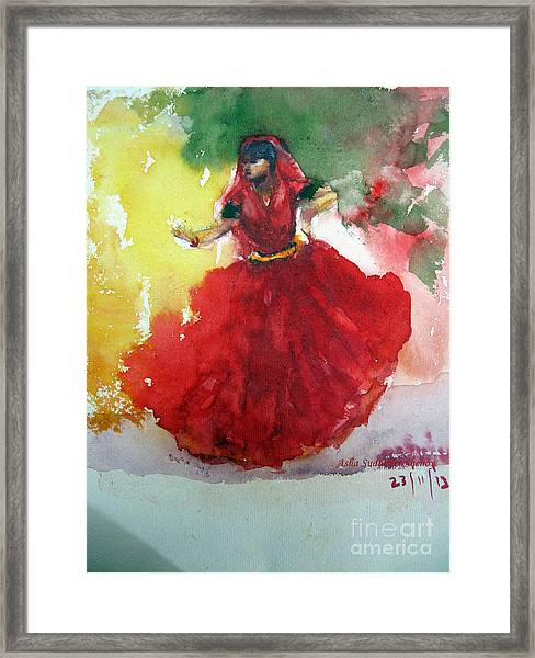 An Indian Dancer Framed Print
