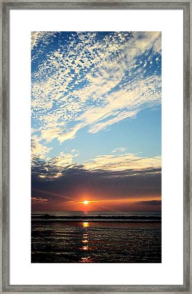 An Ocean And A Sunrise Framed Print