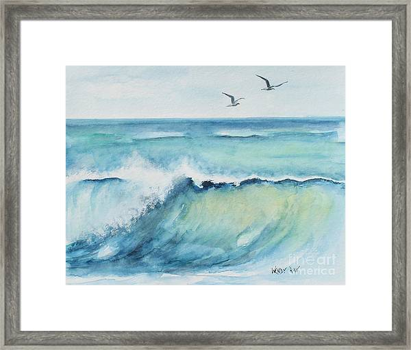 An Ocean's Wave Framed Print