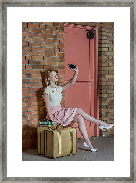 An Old Self Portrait Framed Print by Kirsten Woodforth