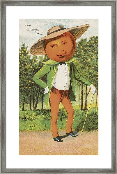 An Orange Man Framed Print