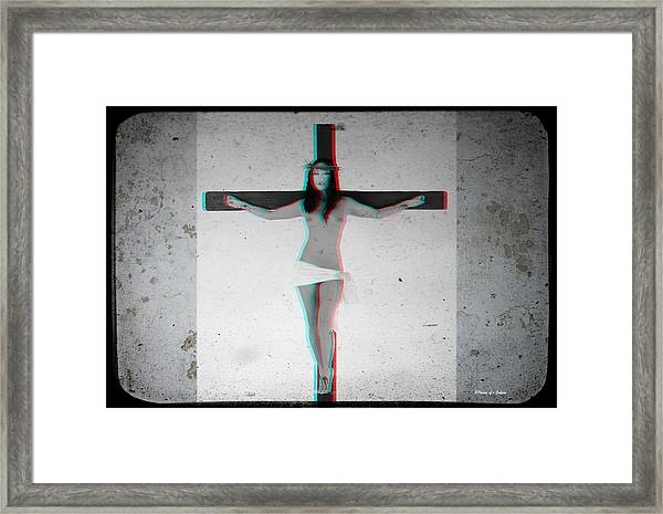 Anaglyph Asian Female Jesus Framed Print