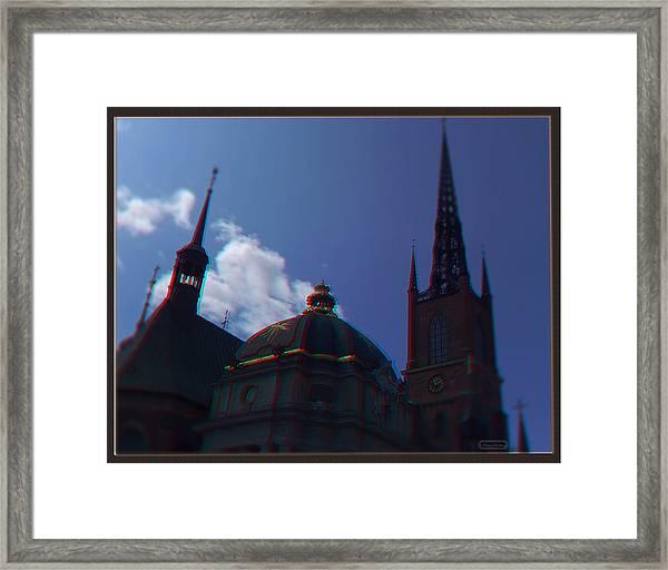 Anaglyph Church Framed Print