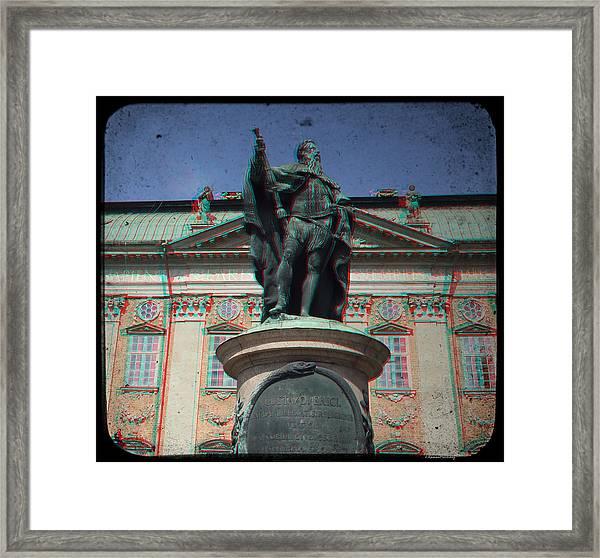 Anaglyph King Gustav Framed Print