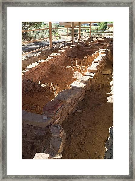 Anasazi Archaeological Excavations Framed Print
