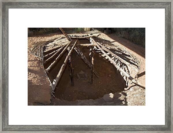 Anasazi Pit House Framed Print