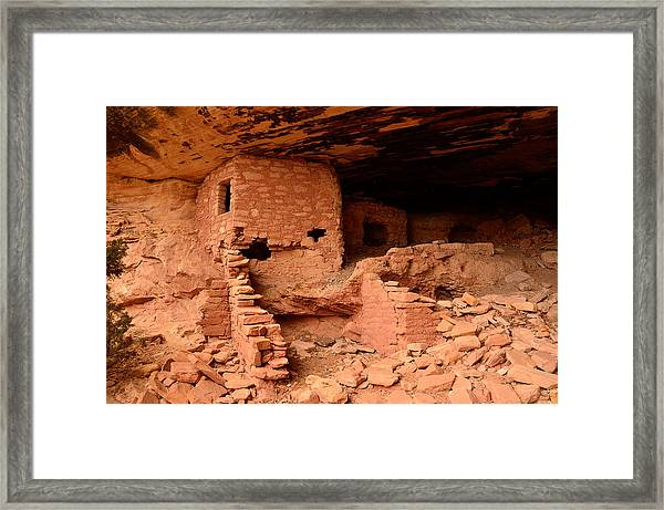 Anasazi Ruins At Comb Ridge Framed Print