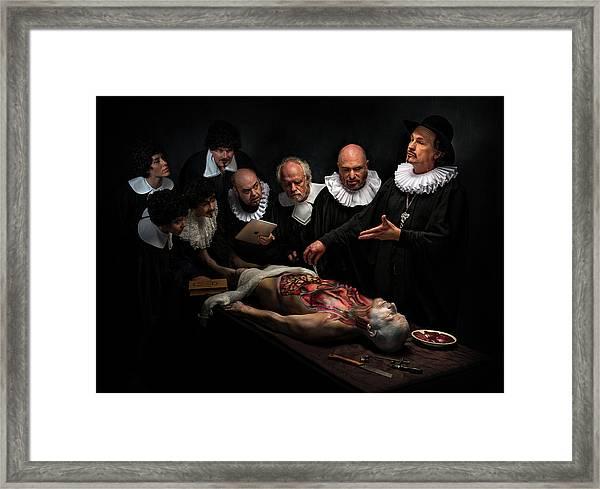 Anatomy Lesson II Framed Print